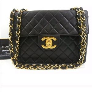 Chanel Jumbo Lambskin Black Bag